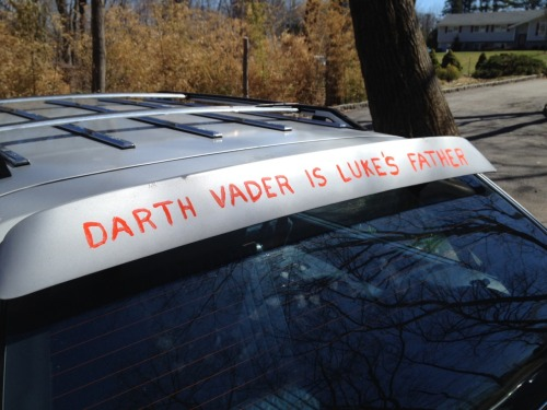 holyshnikees:  My '89 Buick has a spoiler. Now it's the greatest spoiler ever.