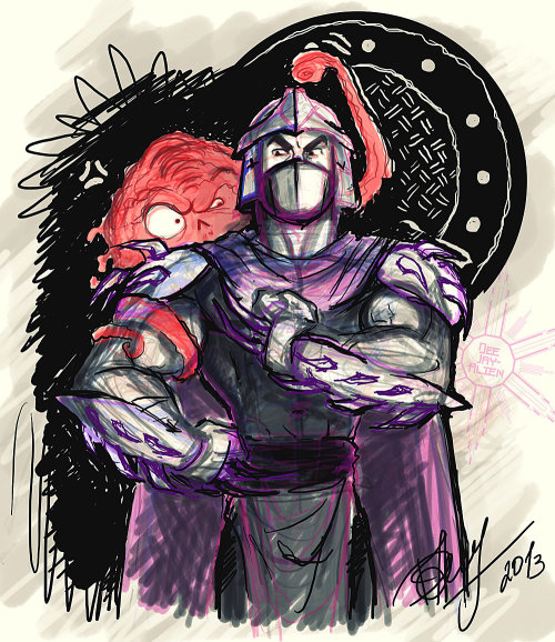 _Shredder and Krang___TMNT fanart_sketch by =DeeJay-Alien Комменты к сему говноарту (на русском): http://twishort.com/LQgdc