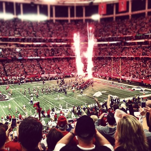 NFC championship game!!!  Rise up Atlanta!!!! (at The Georgia Dome)