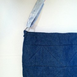 just listed ::: denim tote bag with geometric quilted detail and upcycled floral strap and interior (at www.laureneshaw.etsy.com)