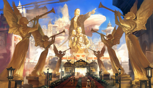 Bioshock Infinite concept art by Ben Lo
