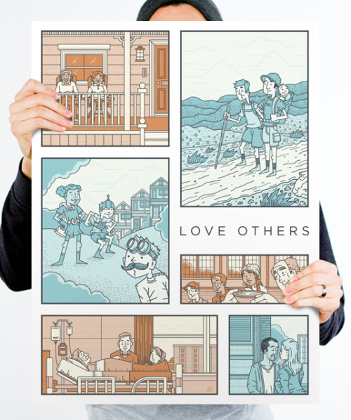 New Print Monday! Love Others by Ryan Putnam.
