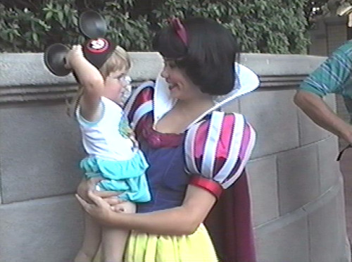 vintagedisneyparks:  Me and Snow White. 1992