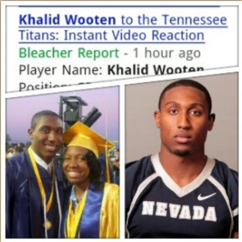 Hey '08, our QB is now a CB in Tennessee. Drafted. Good for you Khalid. #RIALTO!!!!!!