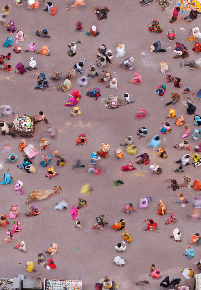 aerial photography by Katrin Korfmann : India streets