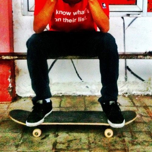 I skate because i love it. #skateboard #love #indonesia #instagram #iphonesia #iphone