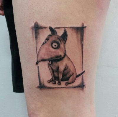 My brand new (and very fresh) Frankenweenie tattoo!  Done by Alie K in Toronto, Ontario, Canada