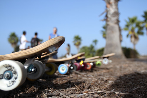 A selection of longboards is laid out at Robb Field Skate Park in San Diego Dec. 9 before the 4th annual Skate for the Troops event. Approximately 50 participants and supporters came to the event to raise money for the Semper Fi Fund.Read more: http://www.dvidshub.net/image/798162/skate-troops-marks-4th-year#.UN51zYnjnmA#ixzz2GPgGogBP