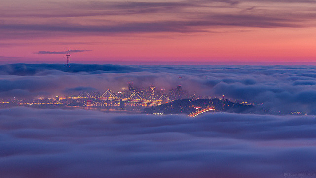 San Francisco All Tucked In on Flickr.Via Flickr: Another one from last night. I hope to experience an evening like this again, it was a dream moment, to be at this spot with conditions like this. Website | facebook | Google+ | Blog | Stipple