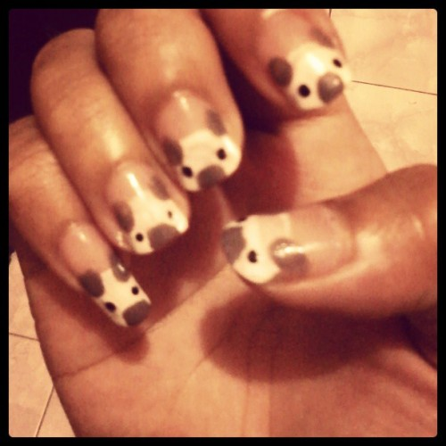Koala Inspired Nails by @itsmereddamae :) Thank you.