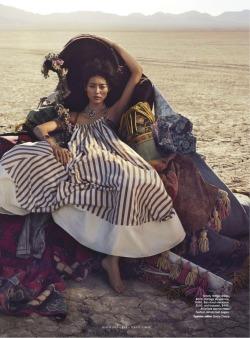 iowntherunway:  On With The Show Liu Wen by Will Davidson for Vogue Australia March 2013 See more from this set here