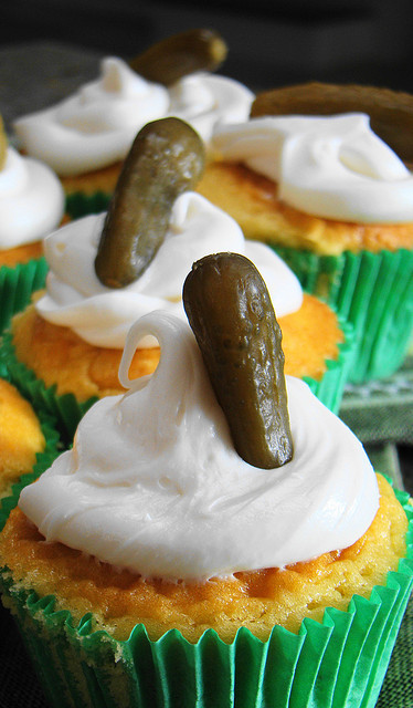 veganfeast:  Pickles and Ice Cream Cupcake on Flickr.