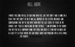 0fpierceandsirens:  Hell Above meaning.