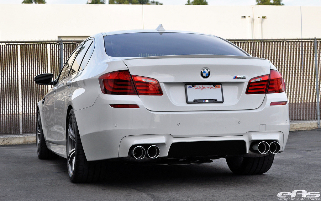 Alpine White F10 M5 H&R Springs Eisenmann Exhaust 20 (by european auto source)