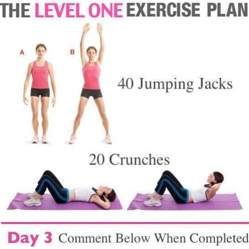 Day three of the starter exercise plan! If you missed day one and two look at my previous post. I'm going to post these exercises for 20 days straight ……feel free to try them out! #healthy #healthyliving #teamfit #teamfitness #teamsexy #teamhealthy #teamnodaysoff