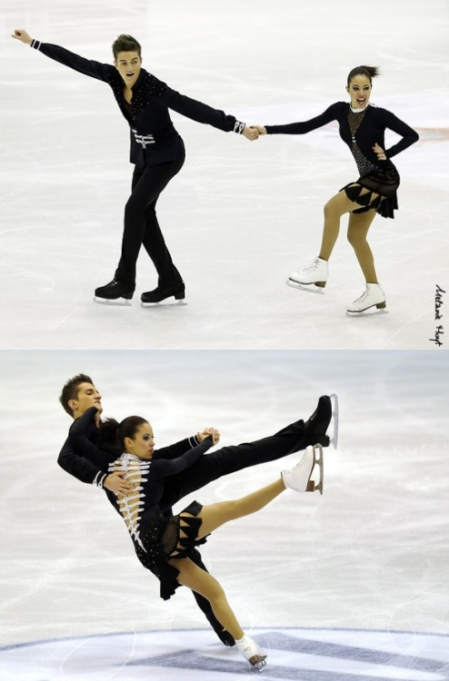 Estelle Elizabeth and Romain Le Gac skating to Madness and Uprising by Muse for their short dance at the 2013 World Junior Championships. Sources: 1 and 2.