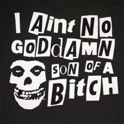 Black and White text Misfits horror goddamn horror punk son of a bitch The Crimson Ghost Where Eagles Dare