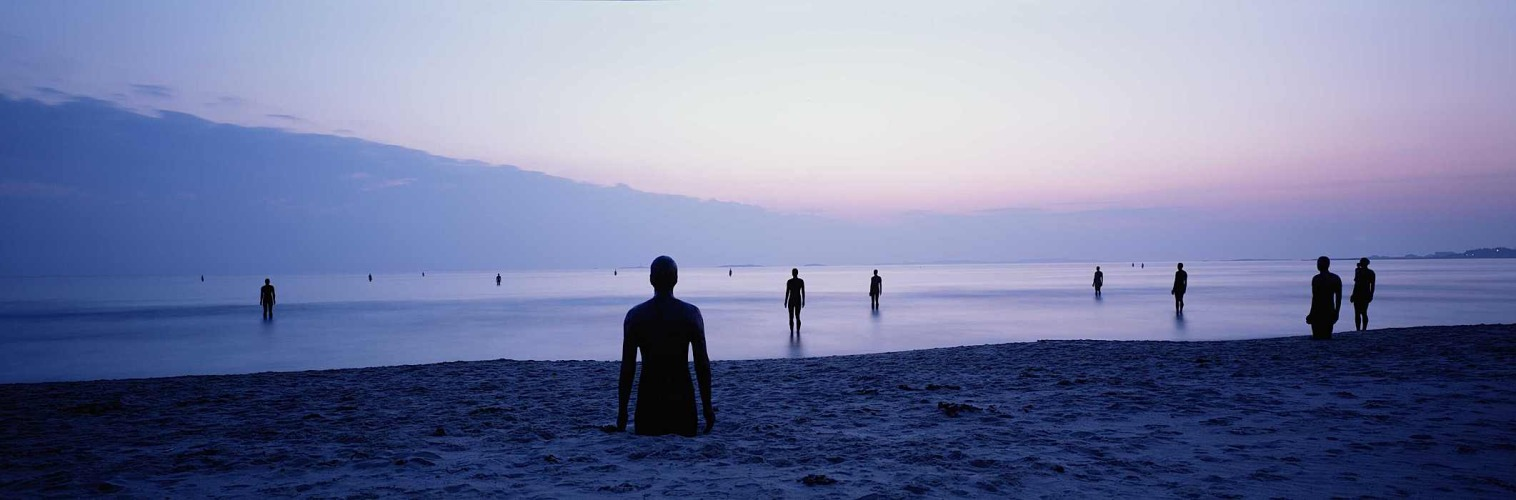 anemonehair:  Antony Gormley's Another Place, Stavanger, Norway My Mum was just talking about out time in Norway and reminded me that we used to visit Solastrand beach whilst Another place was there and we used to sit on the statues and decorate them with seaweed and families used to set up their picnic blankets around them. Its just such a beautiful and interactive piece. When I go through our photos this summer I will have to find the some from Solastrand. And try and visit it at its permanent home in Liverpool.