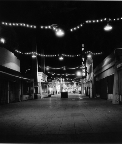 kvetchlandia:  Charles Brittin     Untitled (Ocean Park Pier at Night), Santa Monica, CA     1955