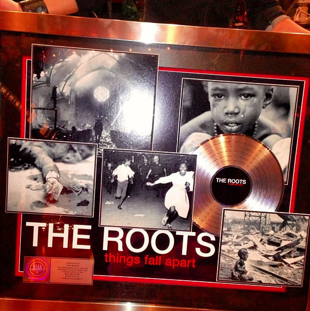 latenightjimmy:  Congrats to The Roots on their Platinum album! [via]  I'm appalled that it took this long for such an amazing record to go platinum. Appalled.