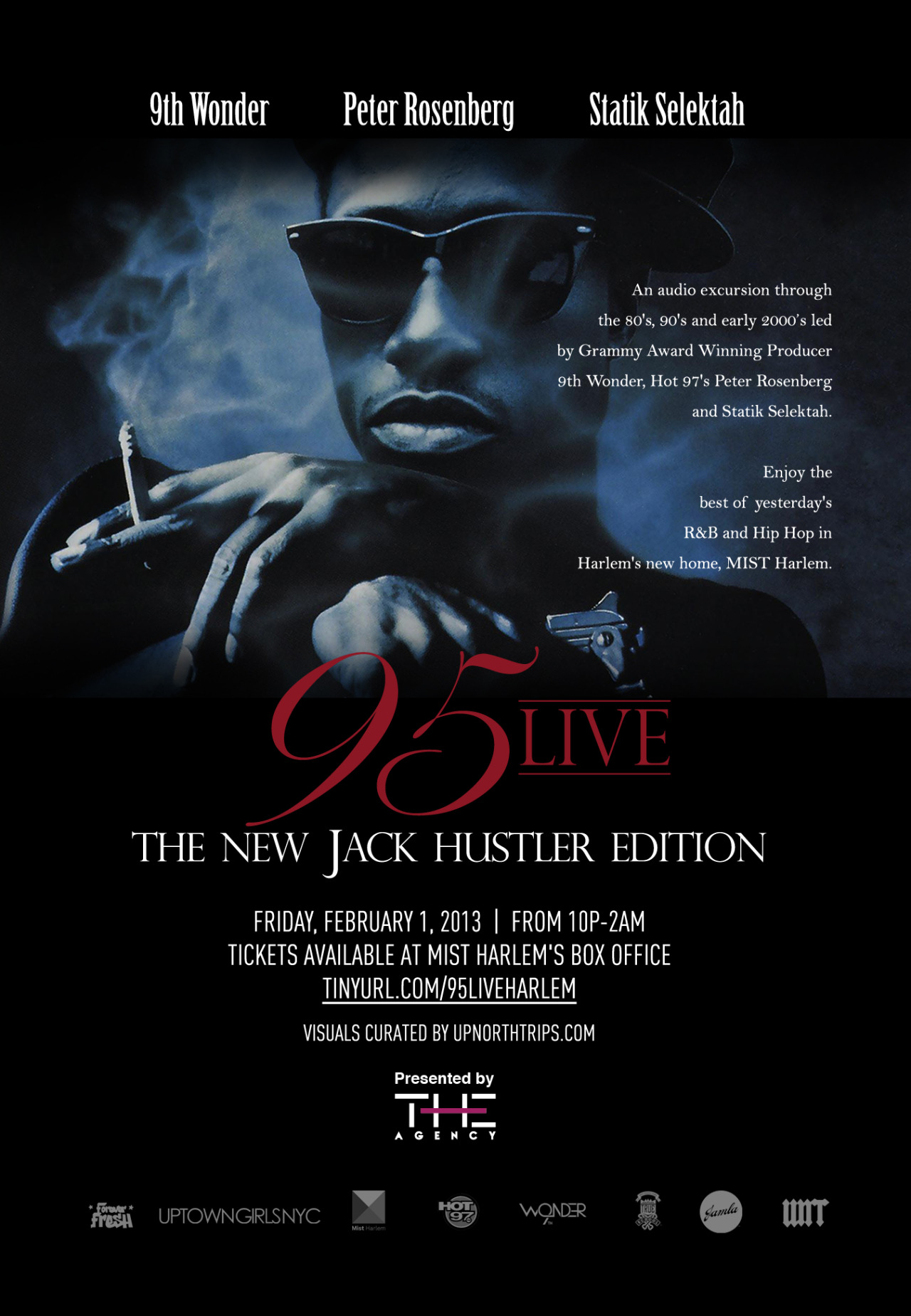Tonight. #95Live: The New Jack Hustler Edition. Flicks curated by yours truly.