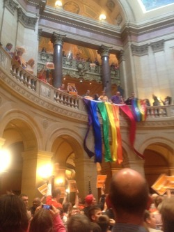 View from St. Paul after Gay Marriage bill passed the House.