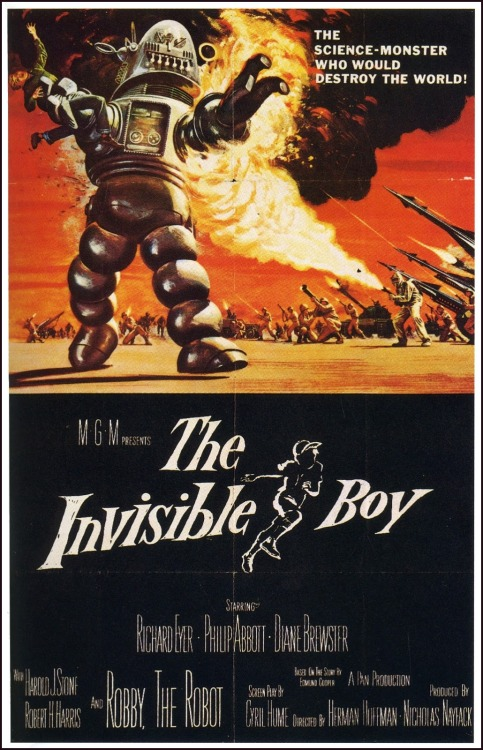 Vintage Poster - The Invisible Boy