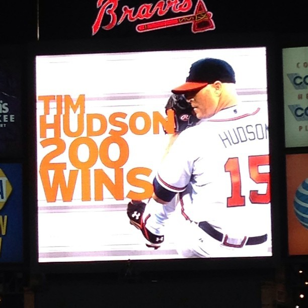 Congrats, Huddy! Go Braves! #Braves #Atlanta  (at Turner Field)