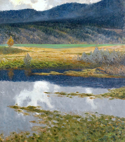 bofransson:  Gustaf Fjaestad, Landscape with Stream and Mountain