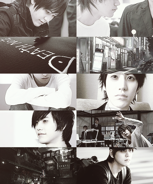 Cho Kyuhyun as L » Super Junior x Death Note crossover