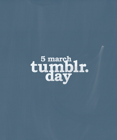 "10000steps:  snaping:  Tumblr Day What is? The 5th March everyone will draw or have a ""t"" on a place where everyone can see it (hands, face, t-shirts or everything you prefer) and when we will go out if anyone see it we will hug eachother and interchange our urls, so after if we want we can keep being in touch. Who can do it? Everyone that have a Tumblr. Yes even hipsters, porn and anything else blog.  Why the 5th March? I don't know an anon said it but i think it's a good date. So reblog this guys and let's make it happens!  I hope I encounter a cute guy with a T so I have an excuse to hug him"