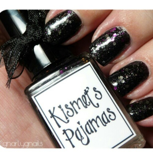 Kismet's Pajamas by Whimsical Nail Polish by Pam. gnarlygnails.com - #nailstagram