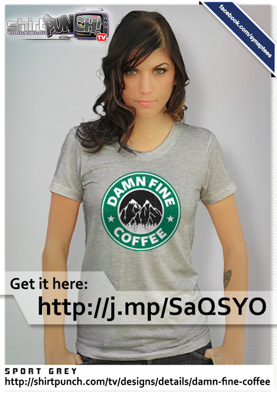 Hey guys, there's Damn Fine Coffee to be had on ShirtPunchTV today. http://shirtpunch.com/tv/designs/details/damn-fine-coffee Check it out, loves and reblogs would also be awesome, thanks! :D