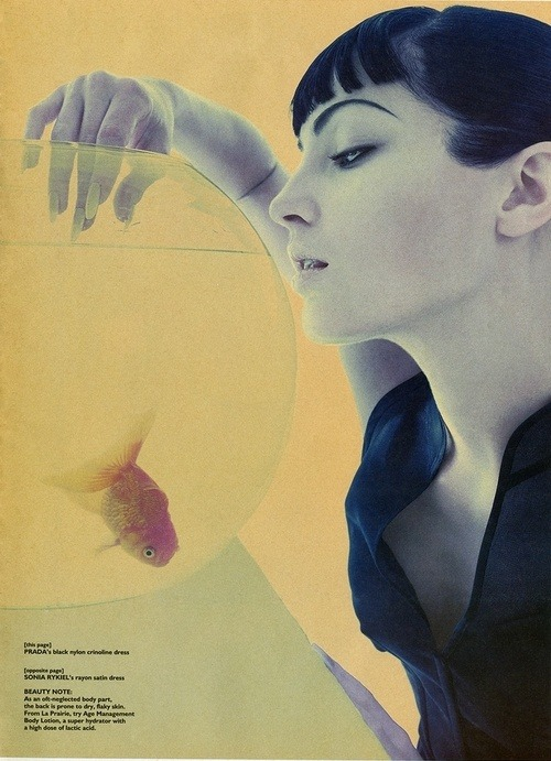 hfgl:  Chandra North by Satoshi Saikusa for W April 1995 | Stylist Michel Botbol | Hair Yannick D'Is | Make-up Tom Pecheux.