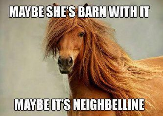 Maybe she is barn with it