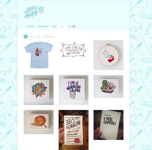 joshlafayette:  Added a WHOLE LOAD of new stuff to my shop last night.  TODAY ONLY: buy the Sriracha Shirt and use the code SPICY to get 20% off your entire order! Righteous!
