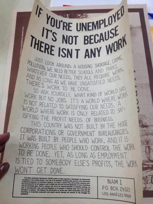 If you're unemployed it's not because there isn't any work