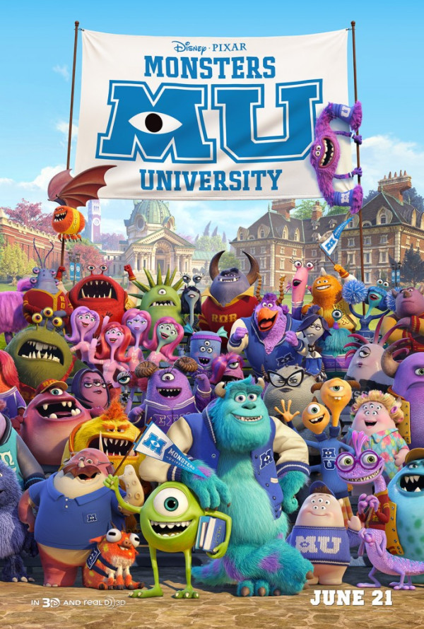 New Monsters University Poster Revealed! Click For More Info