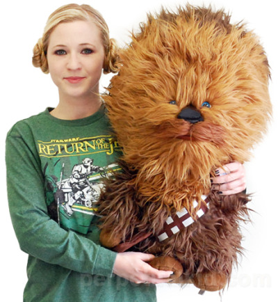 This huge Chewbacca plush makes an exciting gift or addition to your Star Wars collection.