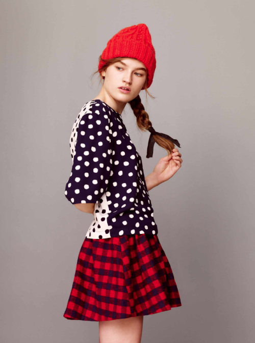 Looks like mixed prints are here to stay. As seen in the ASOS fall 2013 lookbook. -Becky Malinky