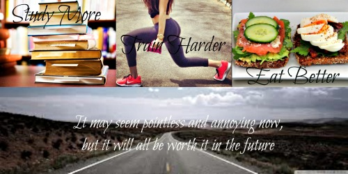 fit-and-healthy-for-tomorrow:  Made this to keep myself motivated. My new life motto. I'm working towards a better future from now on. No more standing still, time to move forwards with my life.