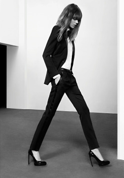 Freja Beha Erichsen by Hedi Slimane Saint Laurent pre-fall 2013