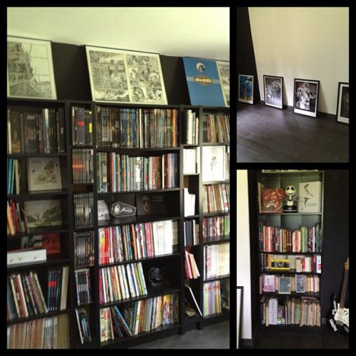 What will my future workstation soon. Just some books in the studio for now.