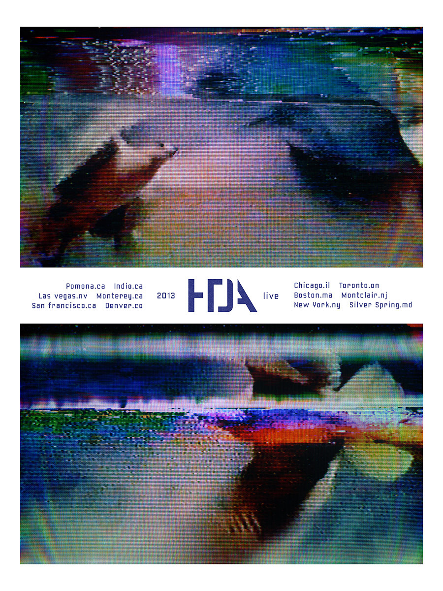 HTDA tour poster #4. From a series of six posters, sold at select shows in limited runs, including some signed by the band (only one poster variant will be available at each show). Not available at Coachella. Any posters left over will be made available in our store after the tour.