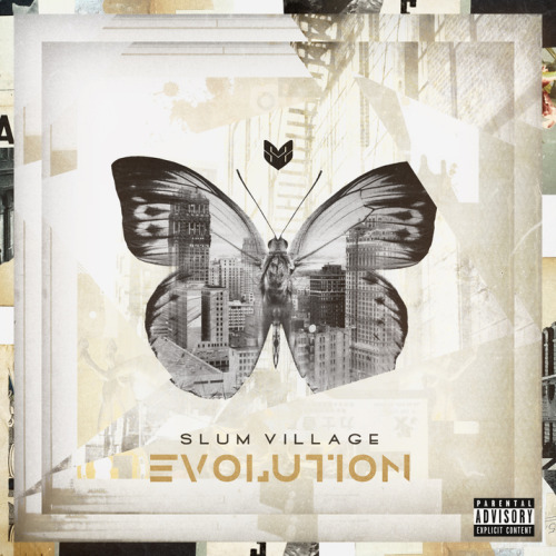 The Detriot based rap group Slum Village is set to release their fourthcoming LP, Evolution, on June 25th. Rumor has it that the album will have features from Blu, Rapper Big Pooh, Raheem DeVaugn, and alot more. Peep the album art that was just released.