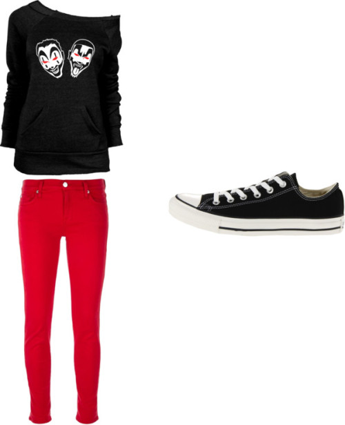 Sem título #292 por uma-directioner usando converse shoesOff shoulder top / 7 For All Mankind skinny leg jeans / Converse  shoes