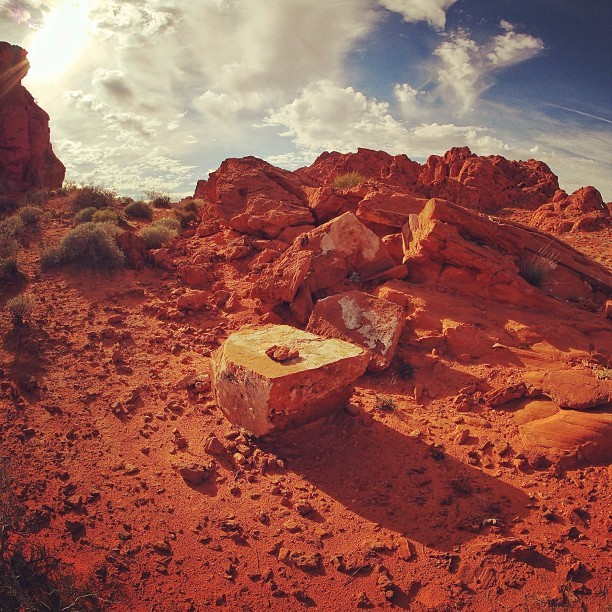 Redrock Alter through the #RiseFilter! :) #Instagood #summer #ValleyOfFire #LasVegas #Nevada