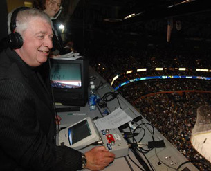 A must for any Sabres fan!  Join Hall of Fame broadcaster Rick Jeanneret in the broadcast booth for one period of play during the Buffalo Sabres vs. Philadelphia Flyers game on April 13, 2013 at First Niagara Center.     In addition, the winners will be taken to the Rope Line outside of the Sabres locker room to watch the team take the ice after intermission.     After the game, the winners will have the opportunity to attend Sabres head coach Ron Rolston's press conference.  The winners will have seats in the Ted Darling Memorial Press Box to watch the game. For tickets vist here