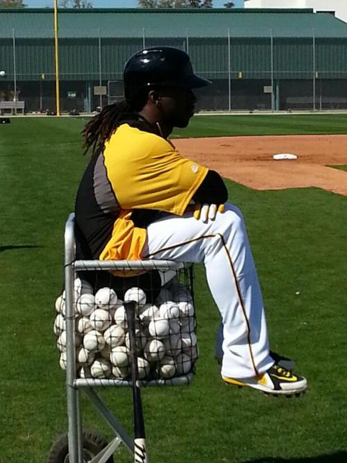 jonesingforandruw:  Andrew McCutchen is enjoying Spring Training.  (Via Facebook)