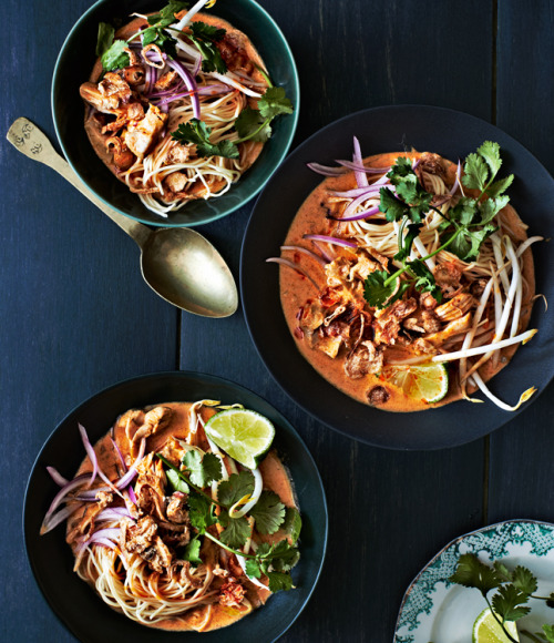 emilyqualey:  thefoodwe:  Long Grain's Chicken Khao Soi  Camden's very own Long Grain graces the cover (!) of Bon Appetit Magazine's March 2013 issue. Talk about a sweet 'eff you to the bozo who's been protesting the restaurant for serving rabbit.   And Primo makes the top20 restaurants in America list.